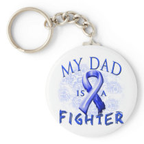 My Dad Is A Fighter Blue Keychain