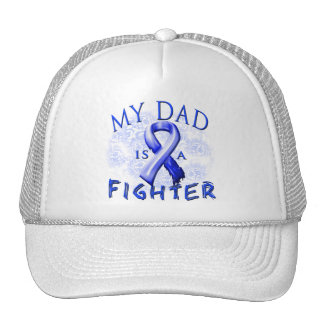 My Dad Is A Fighter Blue Trucker Hat