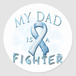 My Dad is a Fighter Light Blue Classic Round Sticker