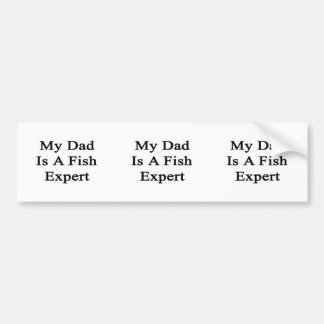 My Dad Is A Fish Expert Bumper Stickers