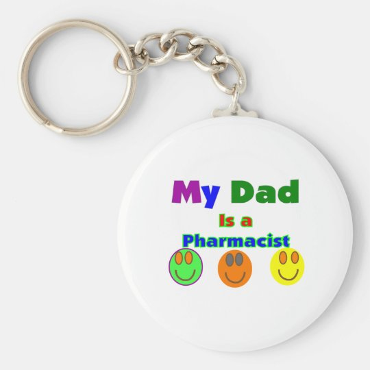"""""""My Dad is a Pharmacist""""  Kids Gifts/Shirts Keychain"""