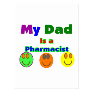 """""""My Dad is a Pharmacist""""  Kids Gifts/Shirts Postcard"""
