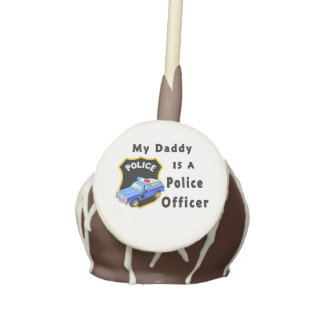My Dad Is A Police Officer Cake Pops