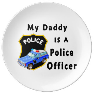 My Dad Is A Police Officer Dinner Plate