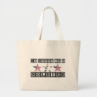 MY DAD IS A SOLDIER TOTE BAGS