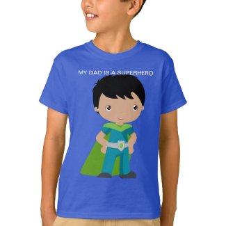 My Dad Is a Superhero boy's T-shirt