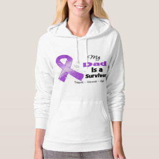 My Dad is a Survivor Purple Ribbon Hooded Pullovers