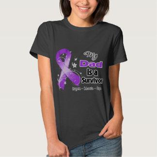 My Dad is a Survivor Purple Ribbon T-Shirt