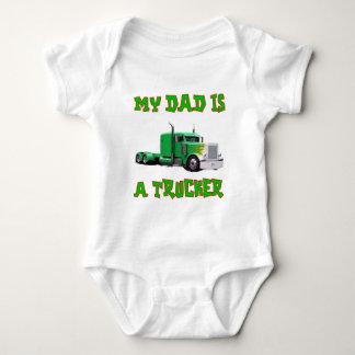 My Dad Is A Trucker Baby Bodysuit