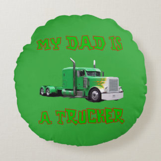 My Dad is a Trucker Throw Pillow