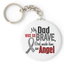 My Dad Is An Angel 1 Brain Cancer Keychain