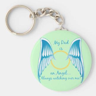 My Dad is an Angel Basic Round Button Keychain