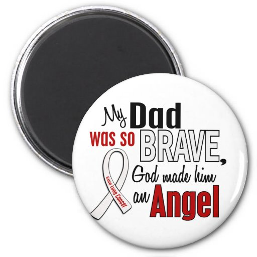 My Dad Is An Angel Lung Cancer 2 Inch Round Magnet