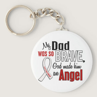My Dad Is An Angel Lung Cancer Keychain