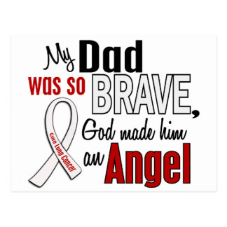 My Dad Is An Angel Lung Cancer Postcard