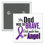 My Dad Is An Angel Pancreatic Cancer 2 Inch Square Button