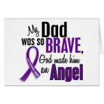 My Dad Is An Angel Pancreatic Cancer Greeting Cards