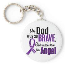 My Dad Is An Angel Pancreatic Cancer Keychain