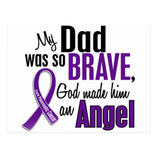 My Dad Is An Angel Pancreatic Cancer Postcard
