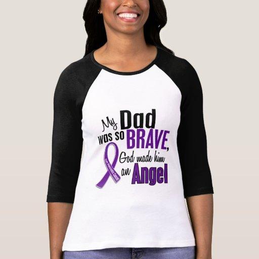 My Dad Is An Angel Pancreatic Cancer Tee Shirt