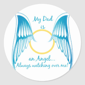 My Dad is an Angel Round Stickers