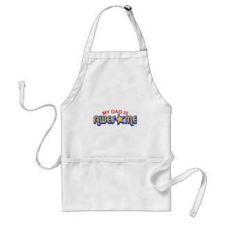 My Dad is Awesome Adult Apron