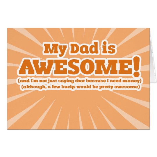My Dad is Awesome Funny Fathers Day Cards