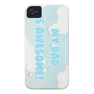 My Dad is Awesome in Blue and White Clouds iPhone 4 Case