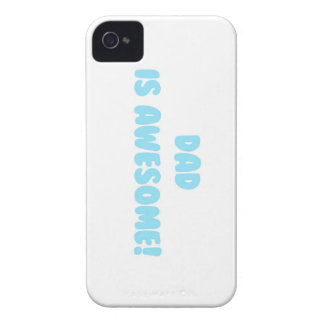 My Dad is Awesome in Blue iPhone 4 Case-Mate Case