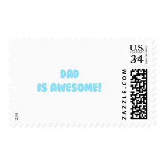 My Dad is Awesome in Blue Postage