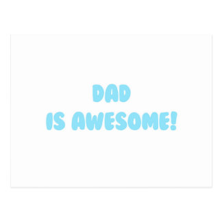 My Dad is Awesome in Blue Postcard
