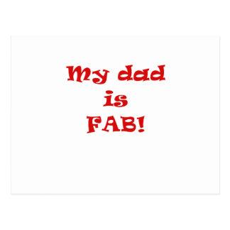 My Dad is Fab Postcard