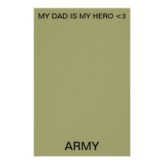 MY DAD IS MY HERO <3 STATIONERY