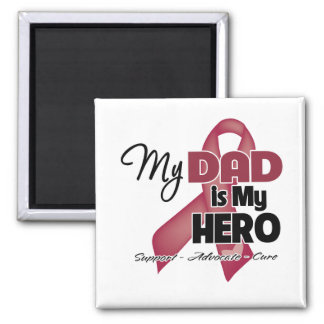 My Dad is My Hero - Multiple Myeloma 2 Inch Square Magnet