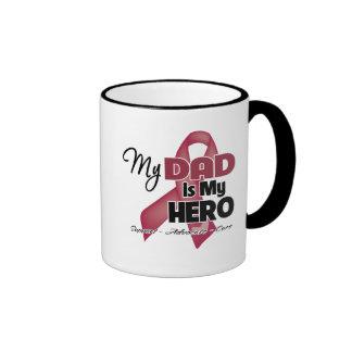 My Dad is My Hero - Multiple Myeloma Ringer Coffee Mug