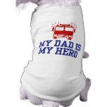 My Dad Is My Hero Pet T-shirt
