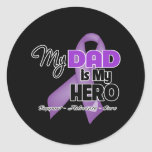 My Dad is My Hero - Purple Ribbon Sticker