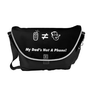 My Dad is Not a Phone Messenger Bags