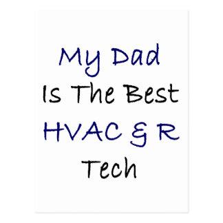 My Dad Is The Best HVAC & R Tech Postcard