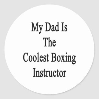 My Dad Is The Coolest Boxing Instructor Stickers