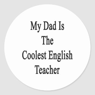 My Dad Is The Coolest English Teacher Sticker