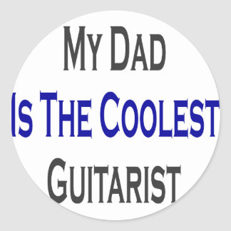 My Dad Is The Coolest Guitarist Stickers