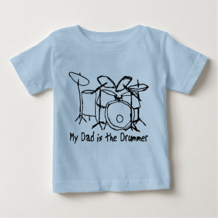 Baby Boys//Girls Unisex MY DAD IS A DRUMMER Funny Drum Drumming Music Babygrow