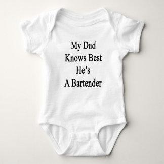 My Dad Knows Best He's A Bartender Baby Bodysuit