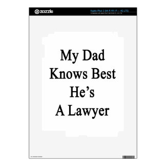 My Dad Knows Best He's A Lawyer Decals For iPad 3