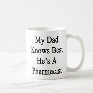My Dad Knows Best He's A Pharmacist Coffee Mug