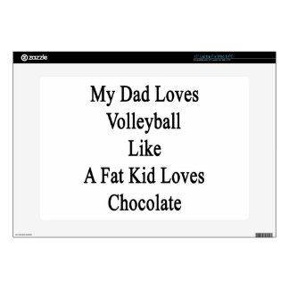 My Dad Loves Volleyball Like A Fat Kid Loves Choco Decal For Laptop