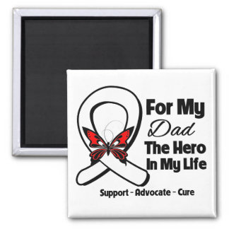 My Dad - Lung Cancer Awareness 2 Inch Square Magnet