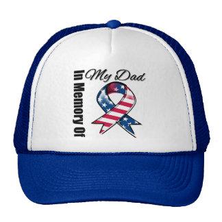 My Dad Memorial Patriotic Ribbon Trucker Hat