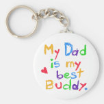 My Dad My Best Buddy T-shirts and Gifts Keychain
